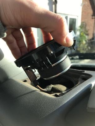 VW T4 factory dash speaker removal